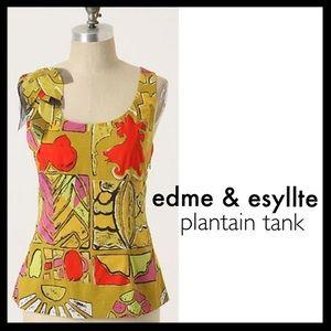 Edme & Esyllte Plantain Lily Ruffle Tank